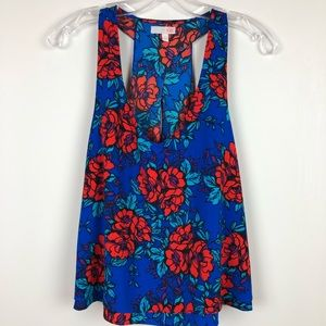 Gianni Bini | Keyhole Floral Sleeveless Top